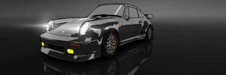 """ドリスピ 全車種図鑑:911 Turbo 930 """"ブラックバード"""" 水彩Ver."""